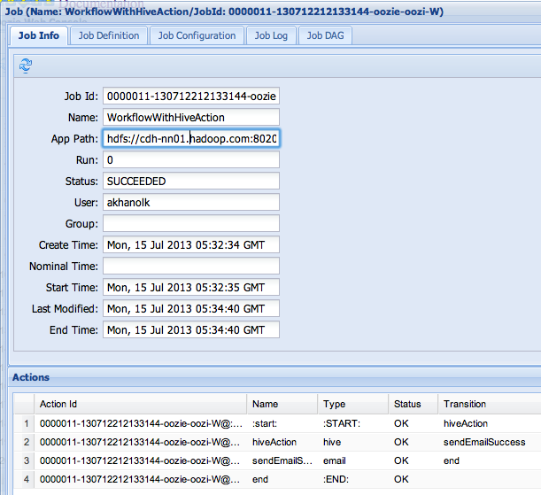 Hooked on Hadoop: Apache Oozie - Part 2: Workflow - hive action