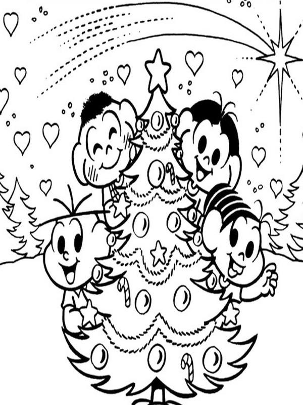 Desenhos De Natal Turma Da Monica
