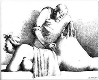 Claude Serre cartoons fat massage