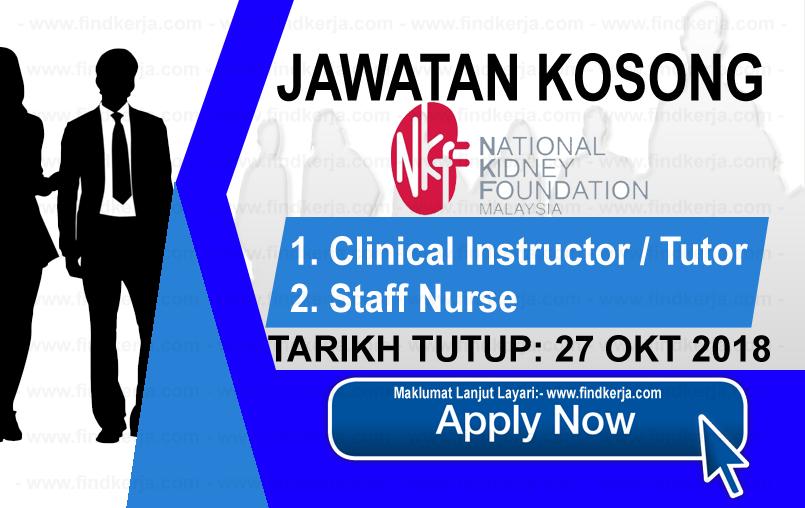 Jawatan Kerja Kosong NKF - Yayasan Buah Pinggang Kebangsaan Malaysia logo www.ohjob.info www.findkerja.com oktober 2018