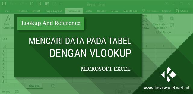 Mencari Data pada Tabel dengan VLOOKUP pada Microsoft Excel