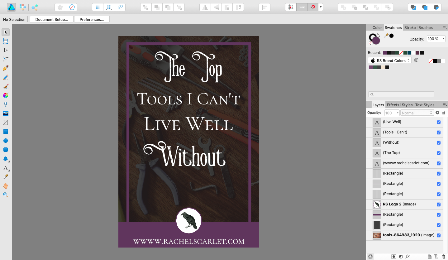 The Top Tools I Can't Live Well Without | www.rachelscarlet.com #Tools #Resources