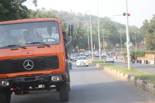 Governor Fayose Rides Truck, Says He Was Once Into The Business (Photos)
