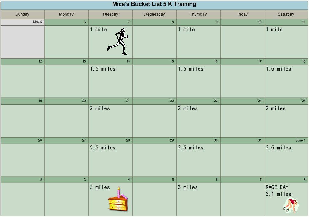 how to train for a 5k run in 3 weeks