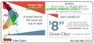 Great Clips coupons march