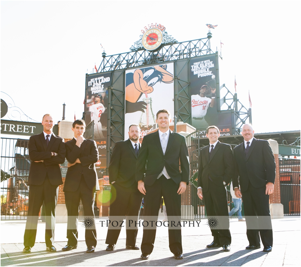 Camden Yards Wedding Photos Groomsmen