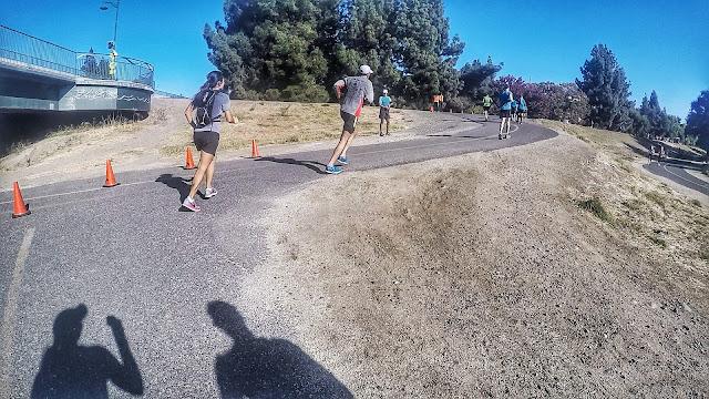 Turnaround point at Run the Parkway 20 mile run