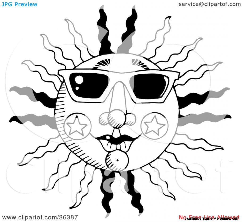 Summertime Clip Art Black And White
