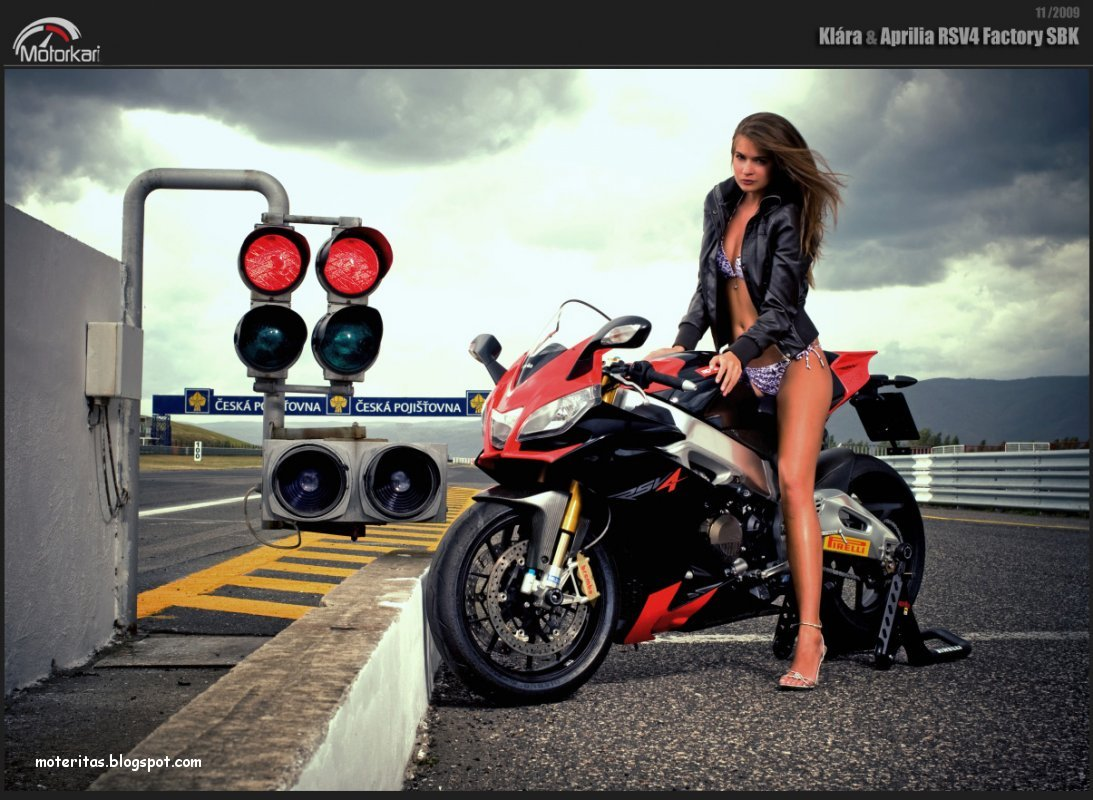 Girl Wallpaper Longitudinal Motos Y Mujeres Resoluci 243 N Hd Babe Amp Aprilia Rsv4 Factory Sbk