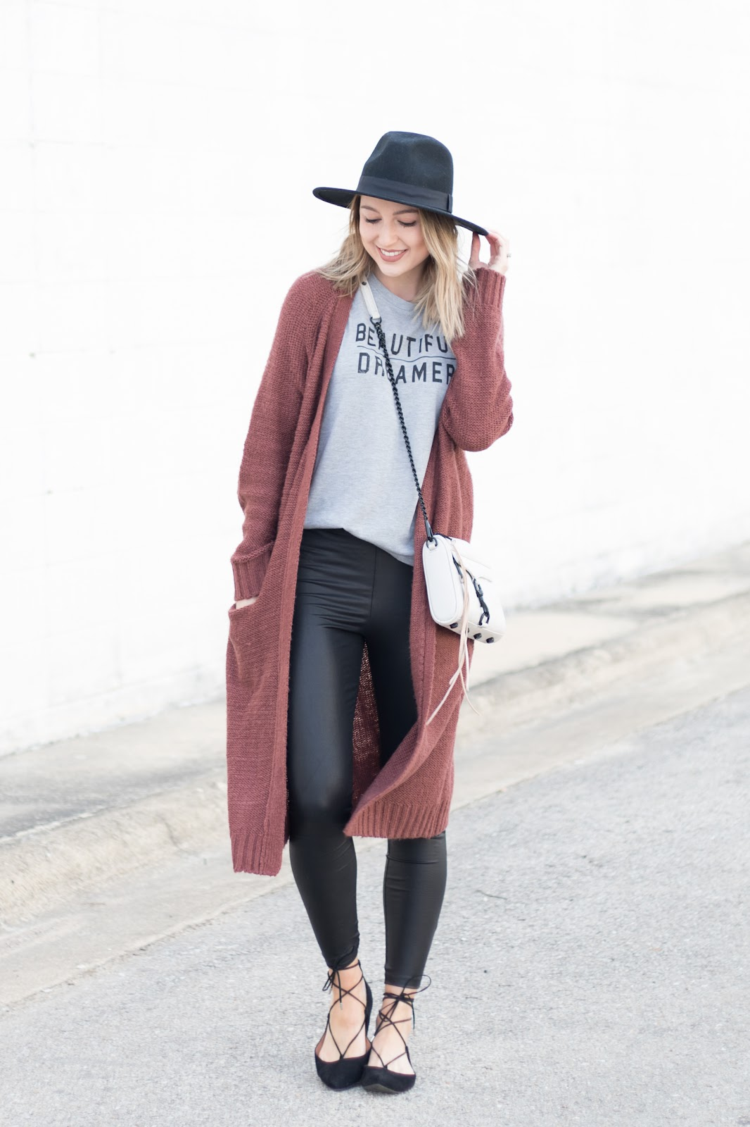 Casual outfit with long cardigan