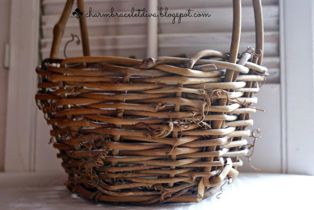 grapevine twig Easter basket