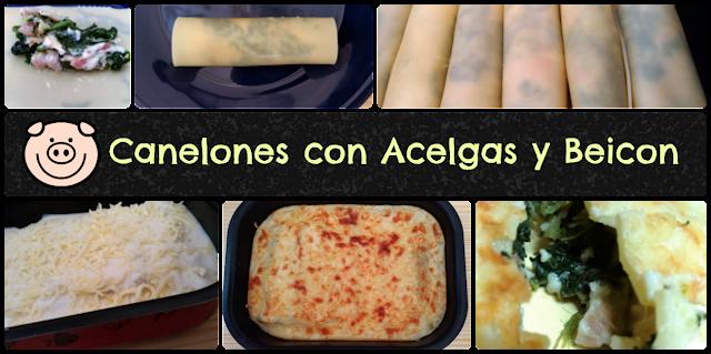 Receta de canelones con acelgas y beicon de #MIVERDURACONGELADA asevec