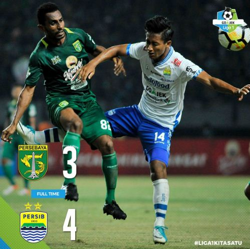 Video Drama 7 Gol Persebaya vs Persib 3-4 Liga 1 2018