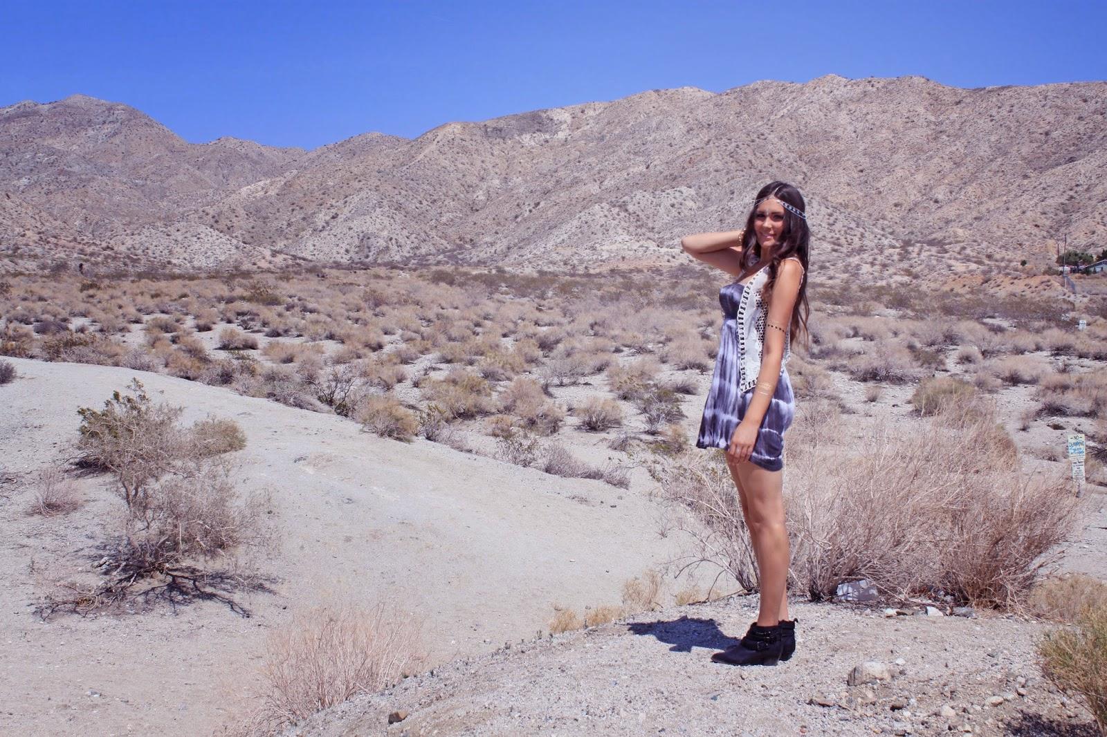 Mash Elle style blogger shares Coachella inspired outfit for festivals   festival outfit   California   travel california   tye dye   festival headband   fake tattoo