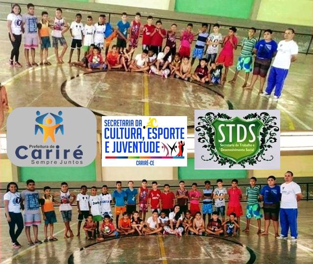 Iniciados os atendimentos às crianças e adolescentes dos programas sociais e esportivos no Proares II  de Cariré-CE
