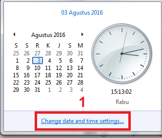 gambar cara mengatur waktu di komputer
