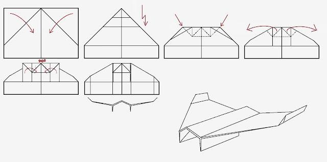 Avión de papel Wing 27