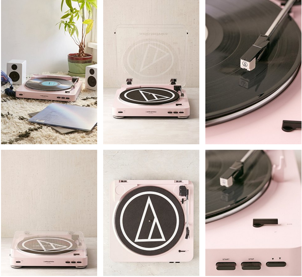 pink vinyl record player