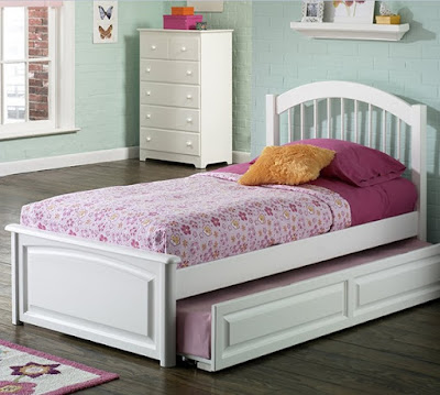 Windsor Platform Bed with Raised Panel Footboard in White Finish