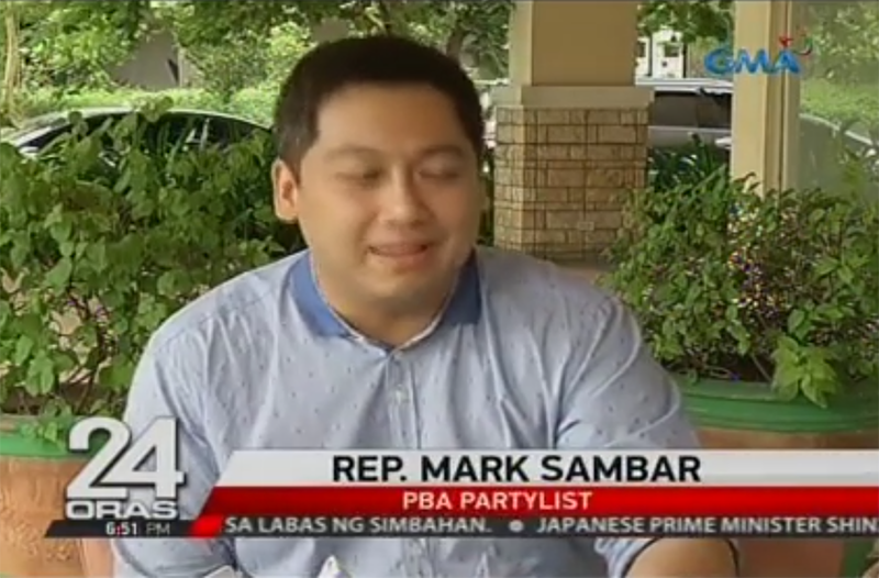 PBA Party-list Rep. Mark Aeron Sambar