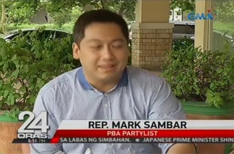PBA Party-list Rep. Mark Aeron Sambar
