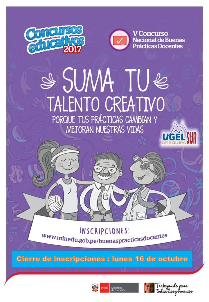 Inscripciones para el concurso de buenas pr cticas for Concurso docentes 2017