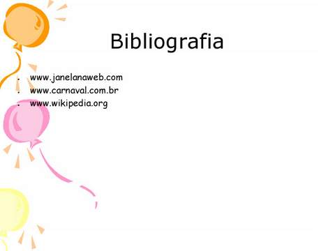 Bibliografia Carnaval
