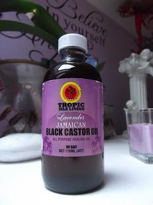 jamajský čierny ricínový olej s levanduľou