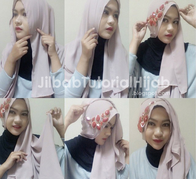 Tutorial Cara Hijab Pashmina Simple Terbaru 2016 Model