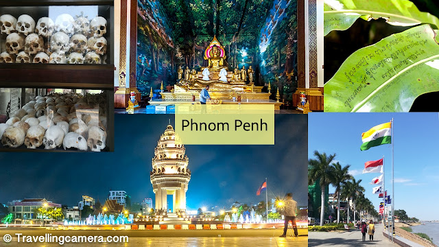 In Cambodia, I spent 10 nights in Banlung, 7 in Phnom Penh, and 3 in Siem Reap. And I haven't had enough of any of these cities. I wish I had a month more to explore the country. If only I wouldn't get so homesick every few days... Anyways, Phnom Penh both shocked and amazed me. The Genocide museum and the Killing fields were a sobering experience. Look them up and you will find out why. The riverside is amazing.     Apart from walking along the quay, you can also observe several amazing customs on display. This practice of setting birds free after praying, for example. Though I find myself cringing at this. The birds that are released are almost immediately caught again and put into crowded cages till someone offers money to set them free. The cycle continues. The birds continue to be caught and released again, and again, and again. What a miserable life!