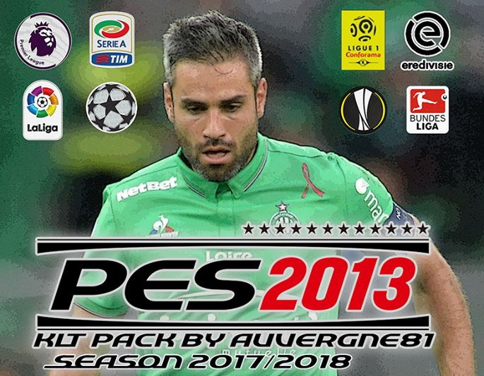 PES 2013 2017/2018 Update Kitpack 23/08/2017 by Auvergne81