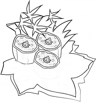 Japanese Sushi Food Coloring Pages