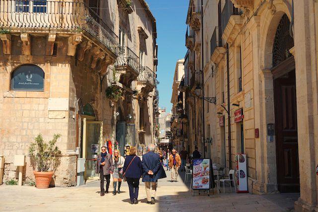 シラクーサ、オルティージャ島旧市街