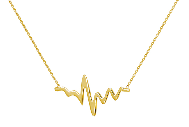 Valentine's Day Gift Idea: Gold Heartbeat Necklace