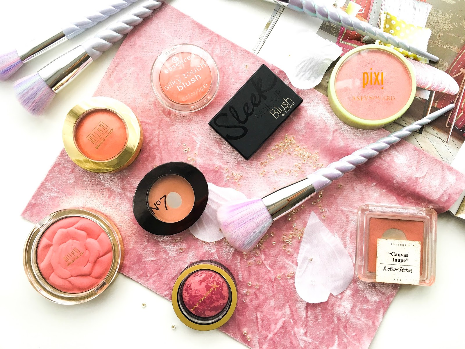 best drugstore blushers uk, best blushers from the high street, top affordable blushers for medium skin, best blushers for medium skin, essence silky touch blush, milani blusher, sleek makeup blusher suede, pixi glow-y powder, max factor creme puff blush, no7 blush honey,