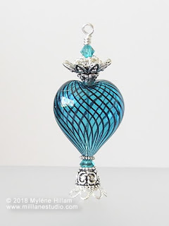 Faux Egyptian Perfume Bottle made with hollow glass bead and jewellery findings