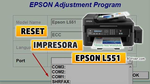 resetear almohadillas de la impresora EPSON L551