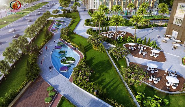 Không gian sống xanh tại Hateco Xuân Phương