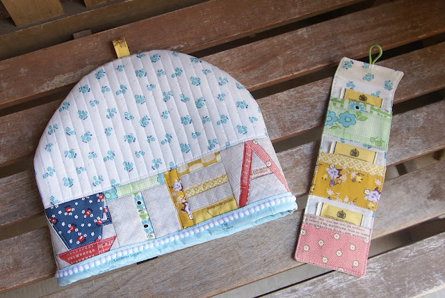 Patchwork Please Zakka Tea Cozy Set by Fabric Mutt
