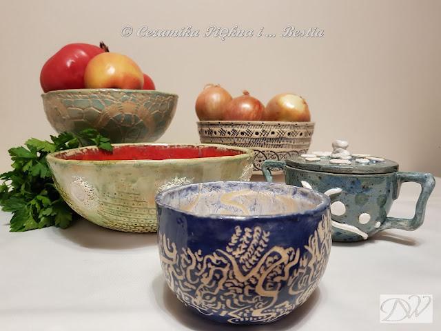 Ceramika użytkowa – misy, miseczki, misunie.