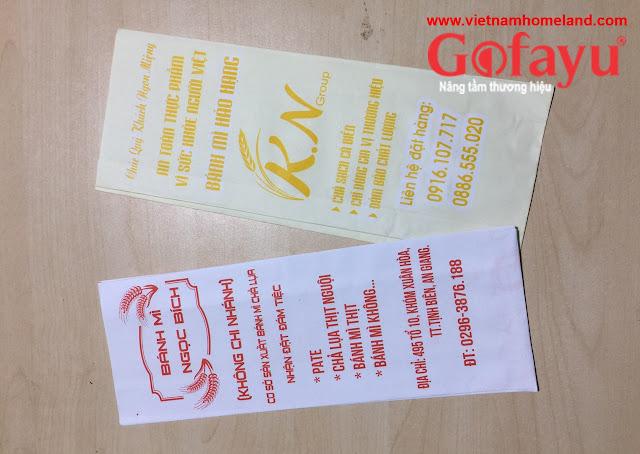 In túi giấy đựng bánh mì đẹp giá rẻ