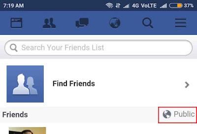 Public Friends on Facebook