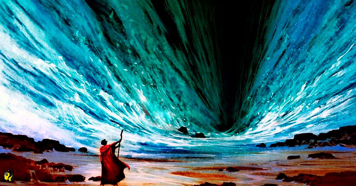 Como Moisés teria aberto o mar para fugir dos egípcios?