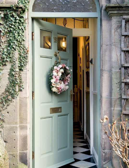 I Adore This Pale Green Blue Door So English And Elegant