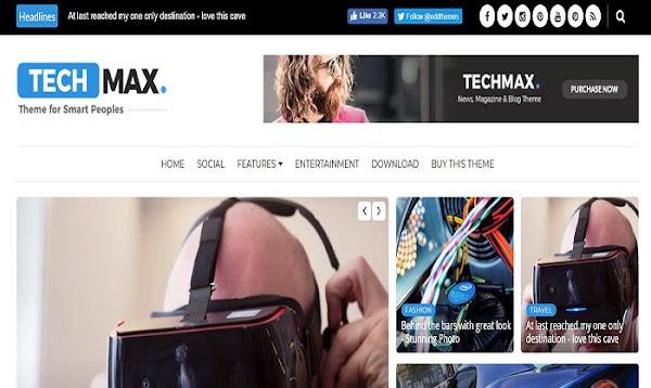 Chia sẻ Techmax Blogger Template