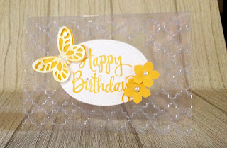 Leisha Wards card for my birthday using acetate