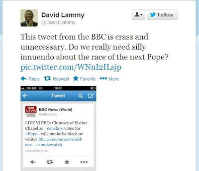 Lammy gaffe