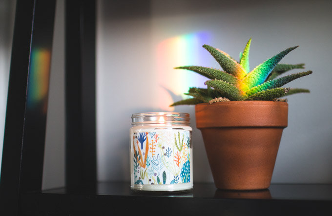 Rainbow Axicon Window Suncatcher, rainbow maker