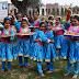 Holi celebrations at Green Land Convent School