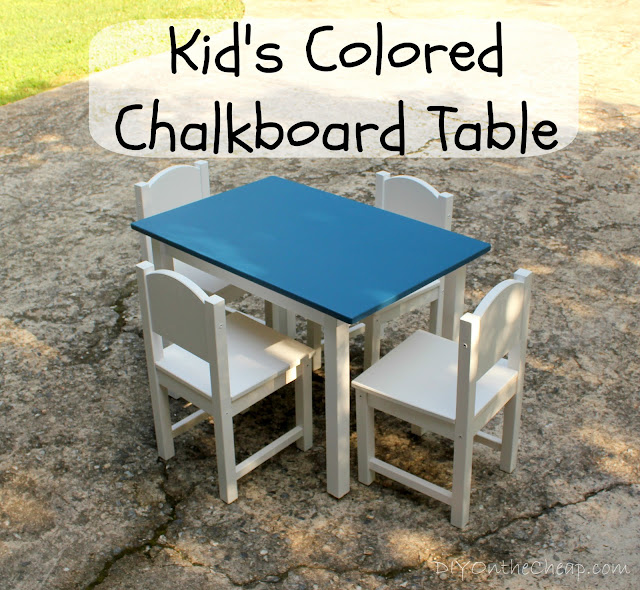 Kid S Colored Chalkboard Table Erin Spain